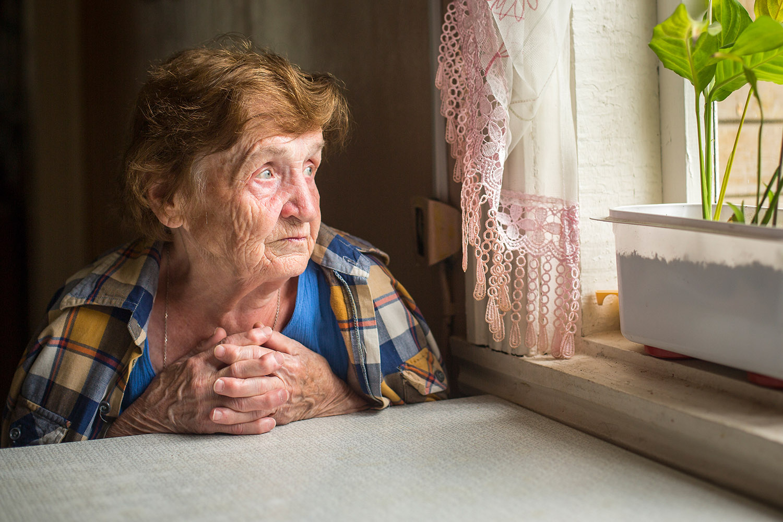 old lady going through seasonal depression